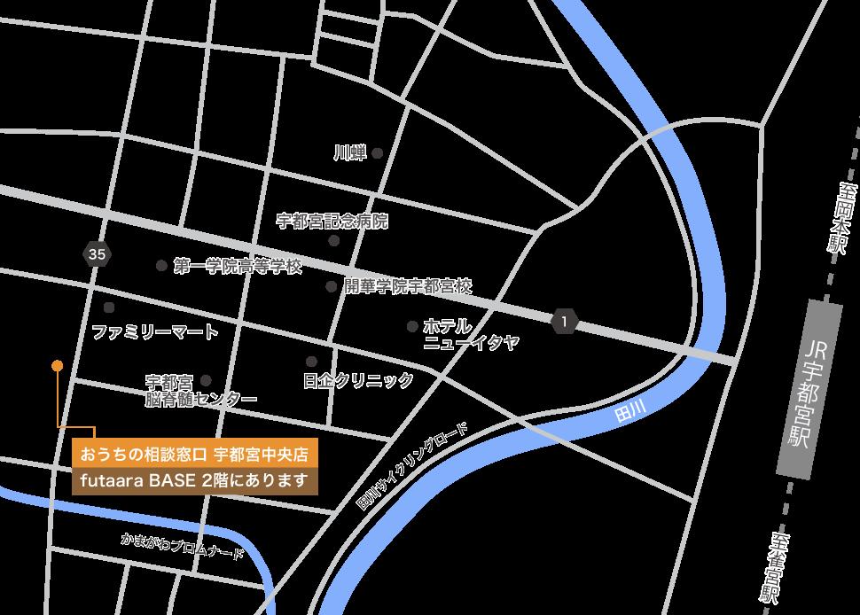宇都宮店地図